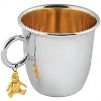 GT54   Christening Cup with Teddy Bear Sterling Silver Ari D Norman