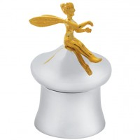 GT2294   Screw Top Tooth Fairy Box with Gold Plated Fairy Sterling Silver Ari D Norman